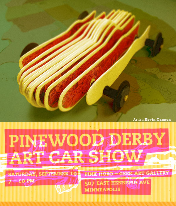 big time attic pinewood derby at pink hobo this saturday. Black Bedroom Furniture Sets. Home Design Ideas