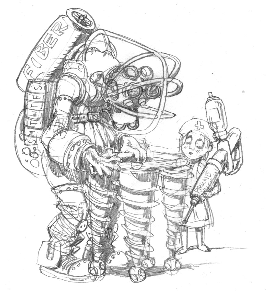 free coloring pages of big daddy BioShock Drawings  Bioshock Coloring Pages